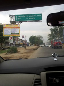 On the way to Anandpur Sahib Gurudwara
