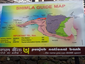 Shimla guide map